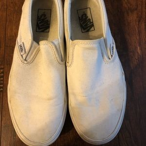 White Slip-On Vans